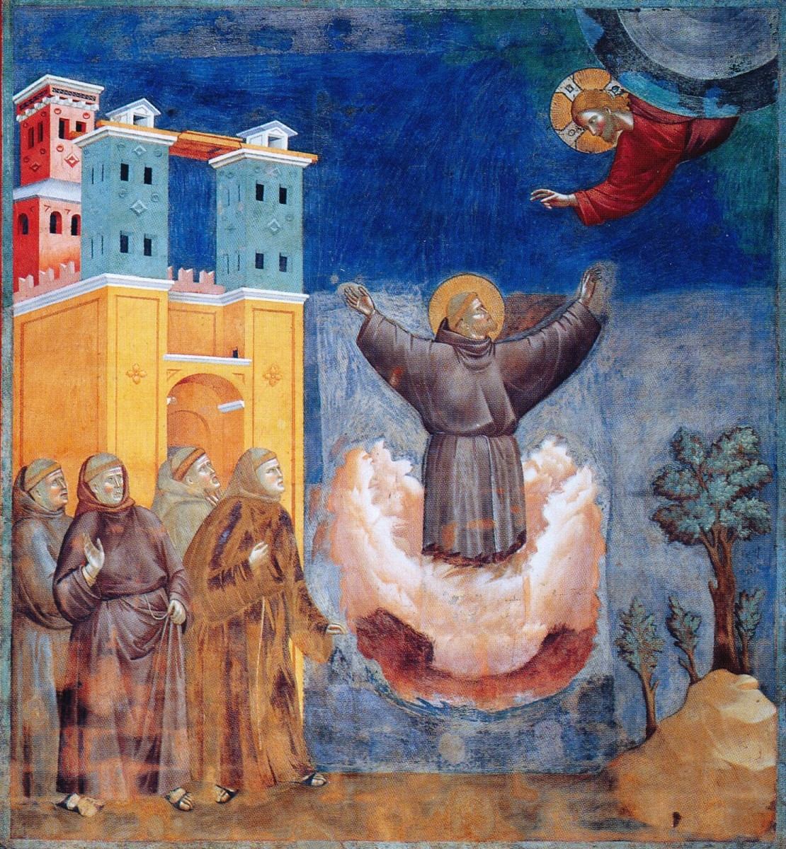 just one of many images depicting St. Francis of Assisi during his moment of vision and stigmata