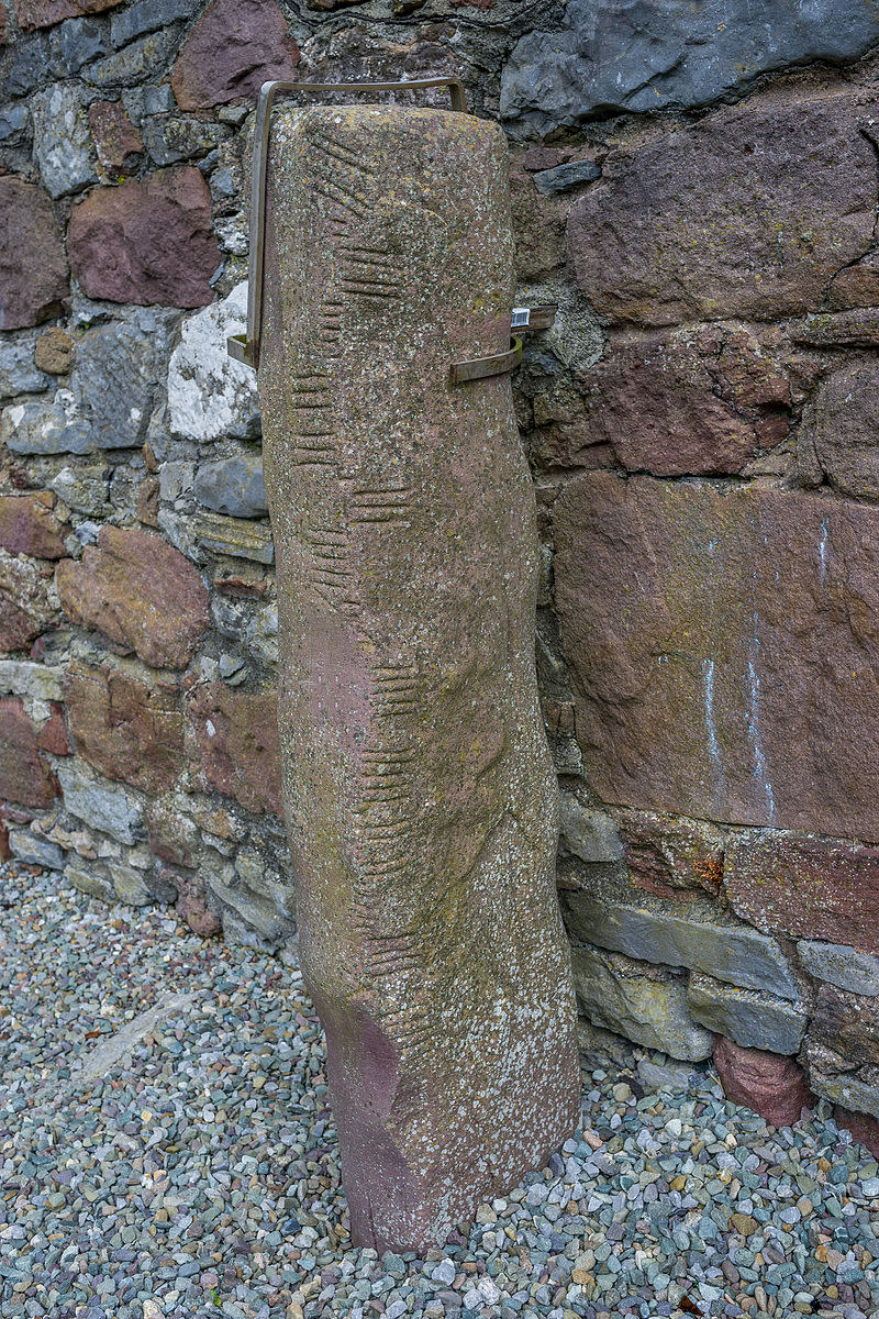 Stele, Ogham stone in Ratass Church, Ireland