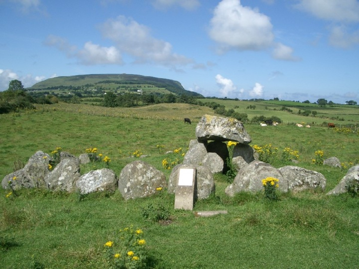 A simple passage tomb in Carrowmore near Sligo in Ireland