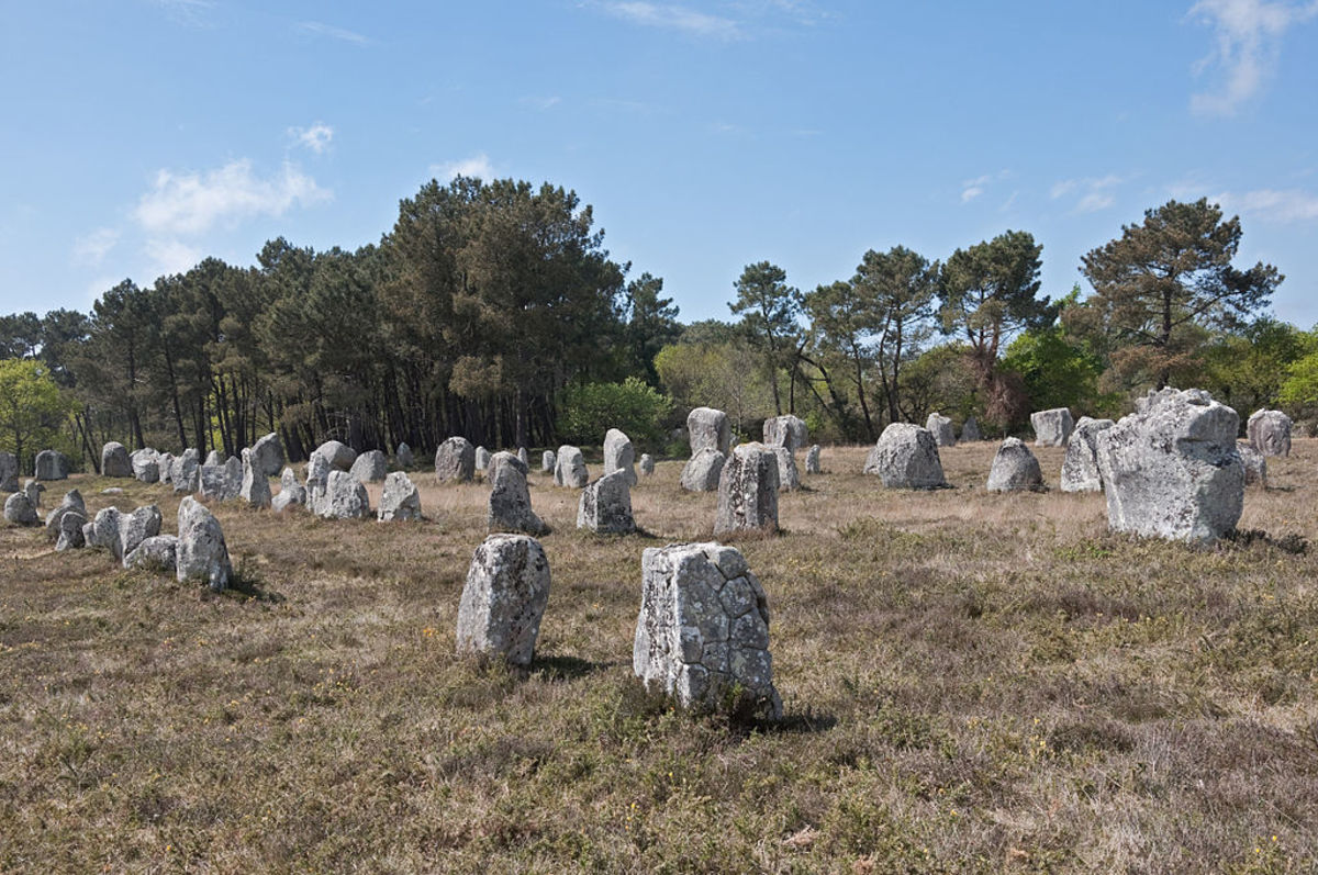 Part of the Kerlescan alignment in Carnac, Brittany
