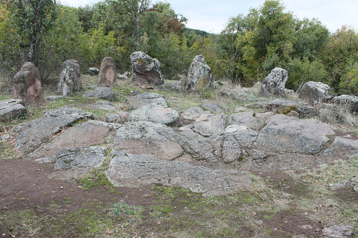 Cromlech near village Dolni glavanak, Haskovo District, Bulgaria