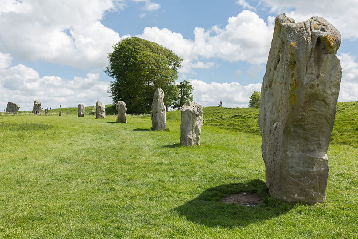Cove, Part of the South Inner Circle of Avebury in Wiltshire, England.