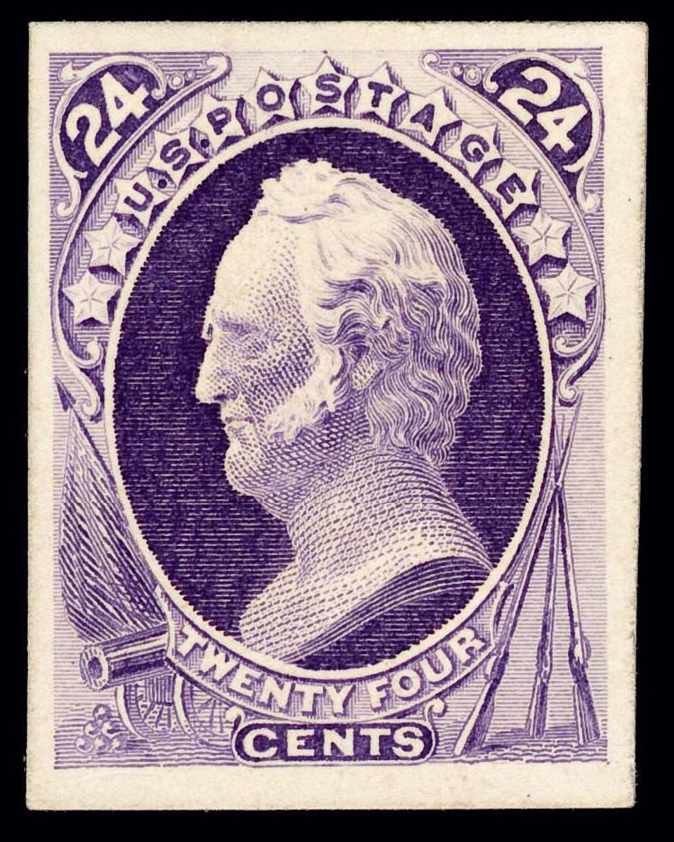 A 25 cent US Postage stamp, Winfield Scott, issue of 1870.