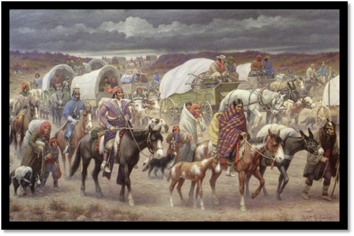 """The Trail of Tears"" by Robert Ottakar Lindneux ."