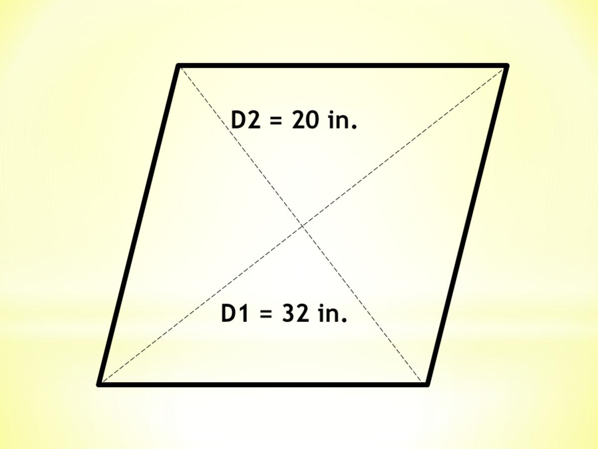 Calculator Technique for Quadrilaterals: Area of a Rhombus