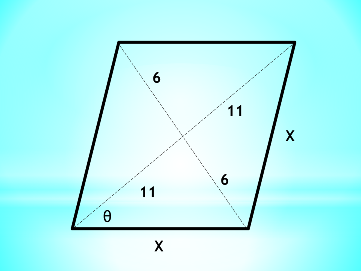 Calculator Techniques for Quadrilaterals: Diagonals and Angles of a Rhombus