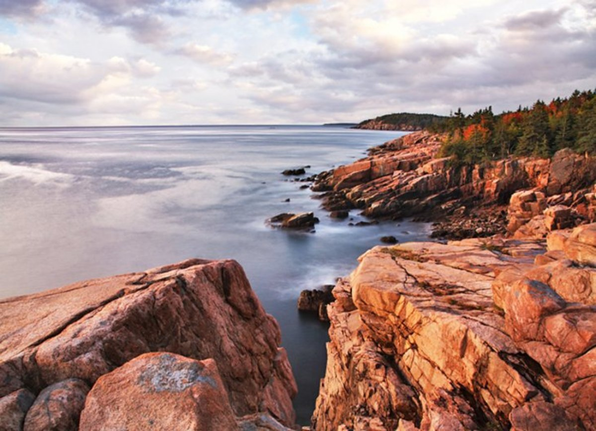 Acadia National Park: the rugged and beautiful stretch of coastline also surrounds a large inland region of lakes, streams, and forests. https://www.nps.gov/acad
