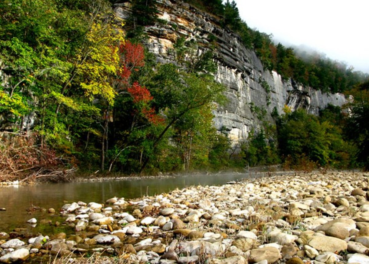 Buffalo National River: Buffalo National River is a protected area and home to deer, bobcats, and a variety of other wildlife. Photo by OakleyOriginals.