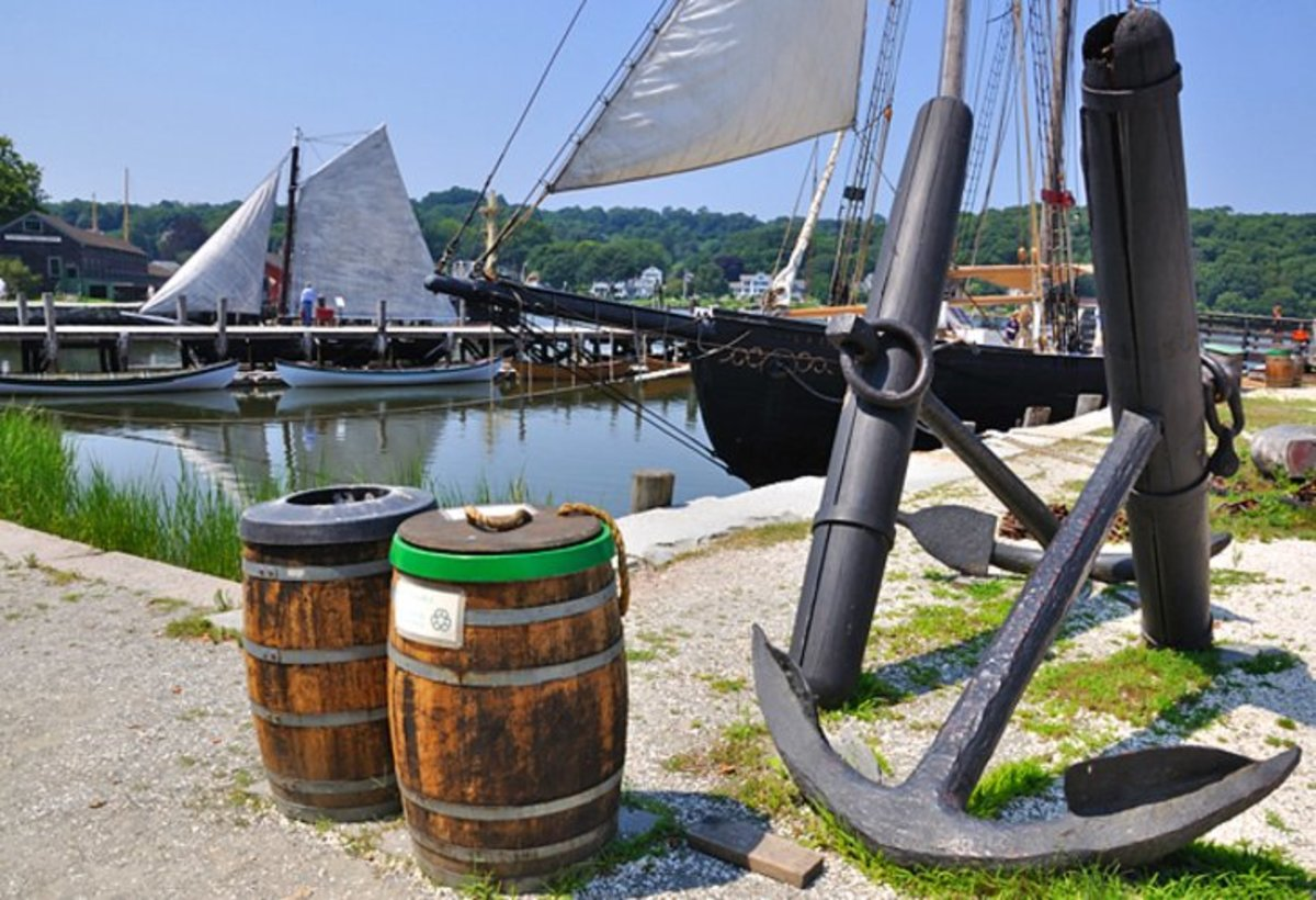 Mystic Seaport: Mystic Seaport recreates a historical seaport village as part of one of the most prominent maritime museums in the United States. Photo by ReefTECK