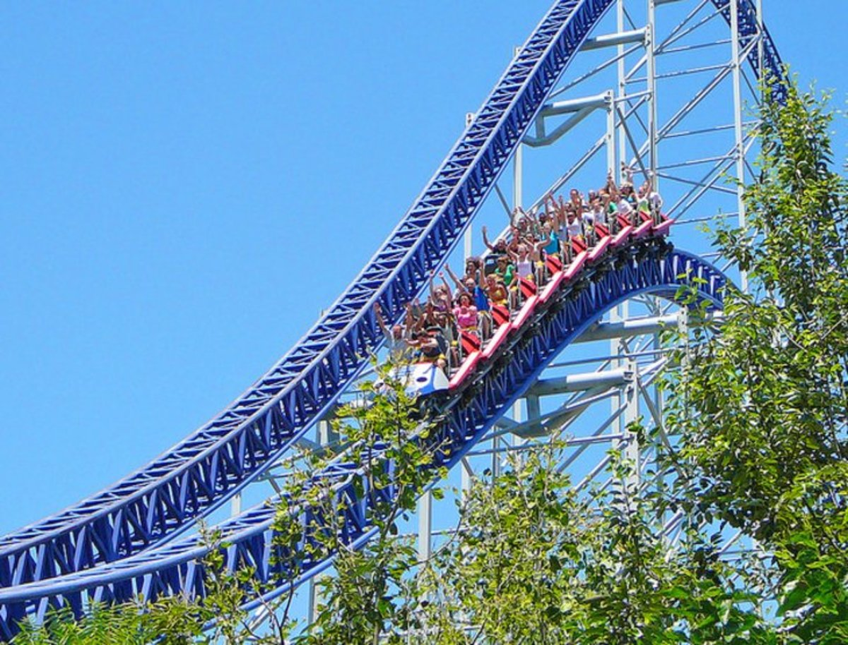 Cedar Point Amusement Park: is one of the most popular summer destinations in Ohio. Cedar Point has more than 17 world-class roller coasters, several kids' areas, and live entertainment. Photo by cryogenic666 via Flickr.