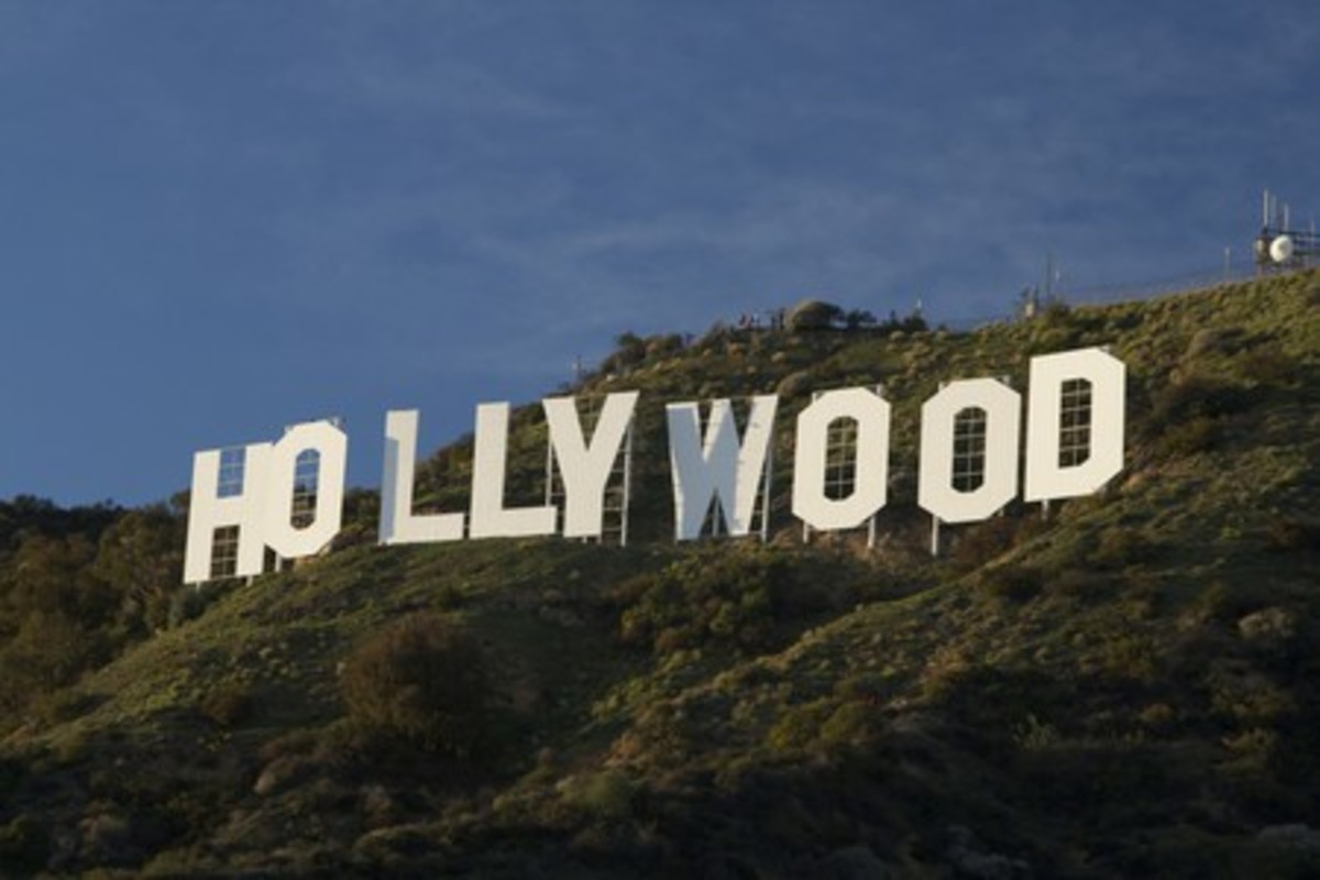 Hollywood Sign: Although you can't hike directly to the Hollywood Sign in Los Angeles, there is a legal trail that allows you to look out over the sign, which dates back to the 1920s when it was used as an advertisement for a real-estate. © Gnaphron