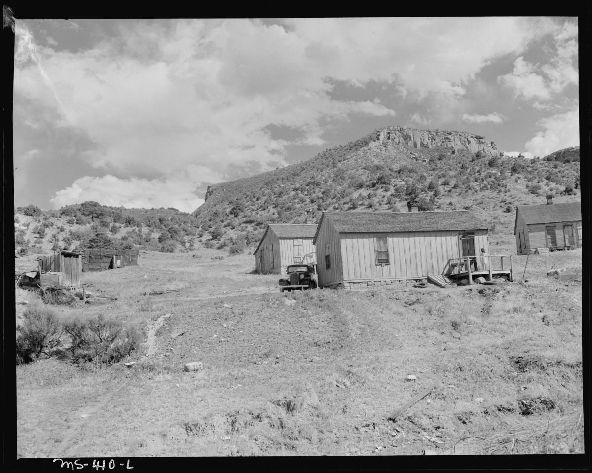 Homes of miners in company housing project. Huerfano Coal Company, Ludlow Mine, Ludlow, Las Animas County, Colorado.
