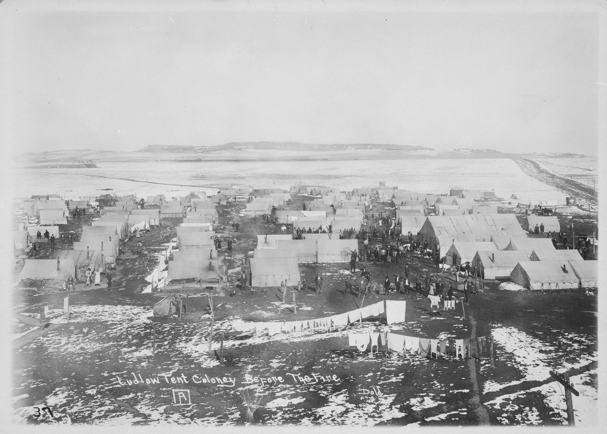The Ludlow Tent Colony Before the Fire.