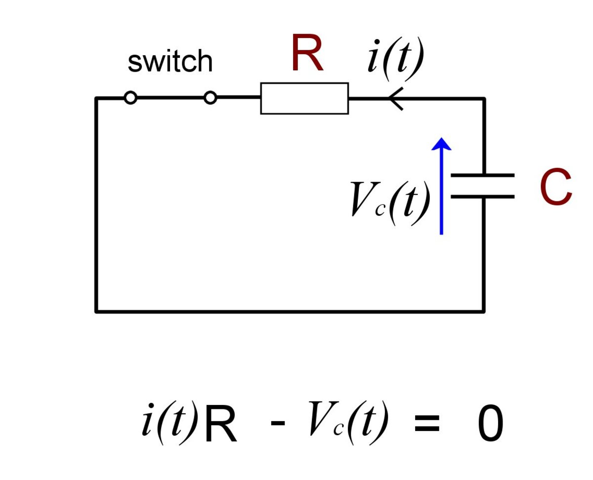 RC circuit capacitor discharge.