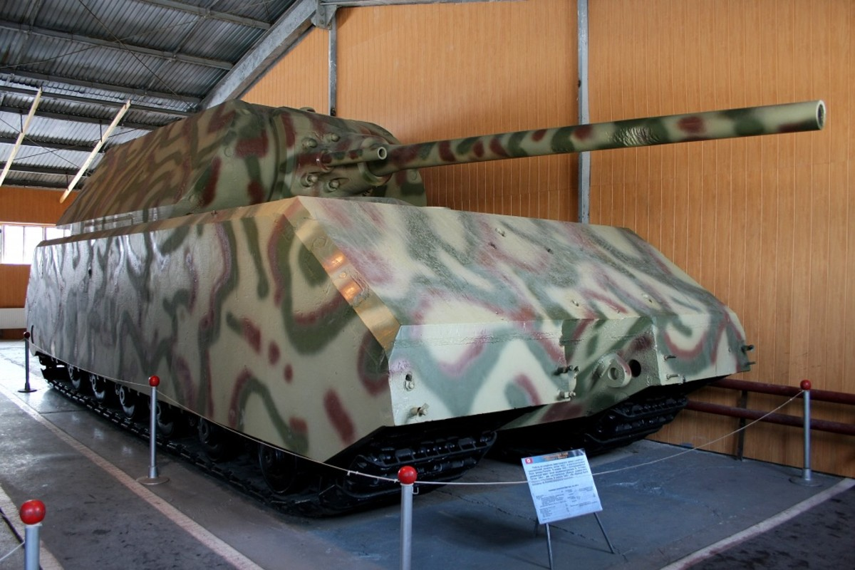 "The Panzer VIII Maus. Despite its diminutive name, which means ""Mouse"" in German, the vehicle is considered to be the largest tank constructed in history."