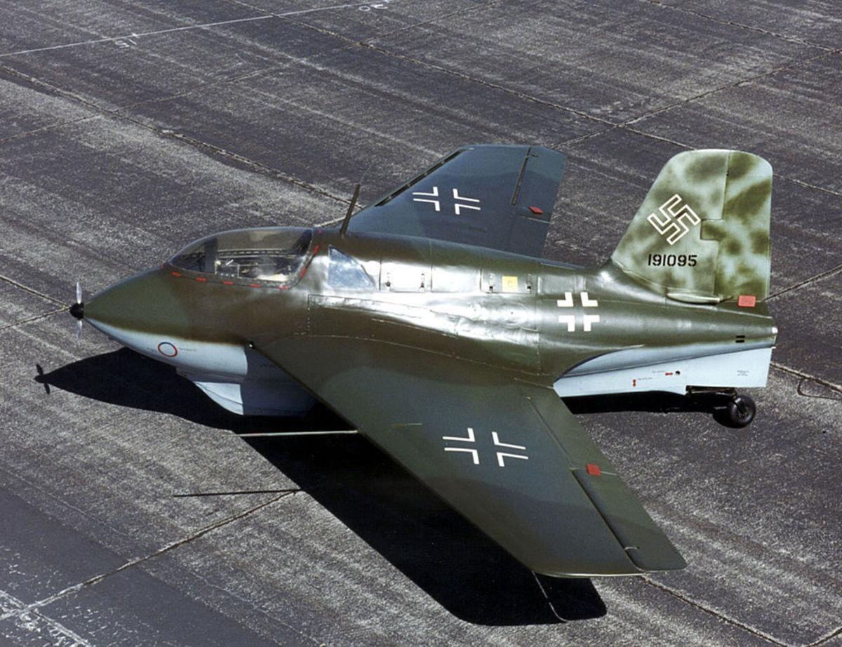The lightning-fast Me-163 Komet.