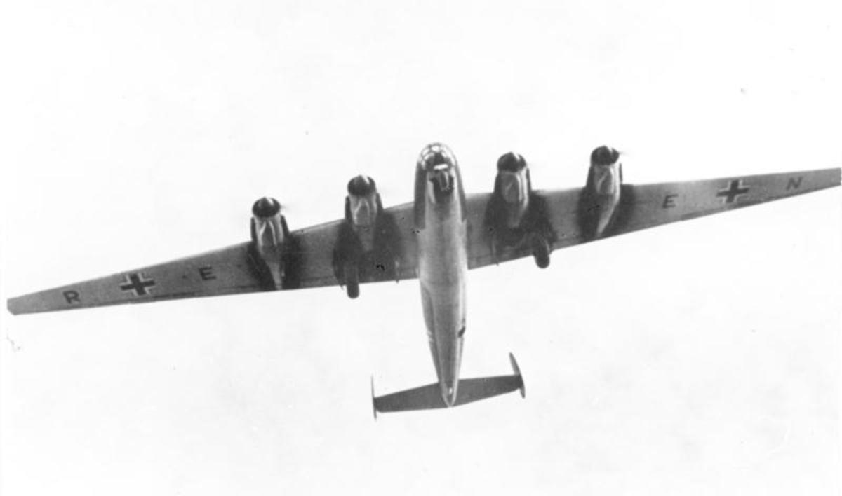"The infamous ""Amerika Bomber"" of WWII."