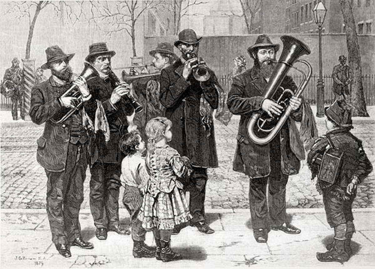 A German band plays in Kleindeutschland.