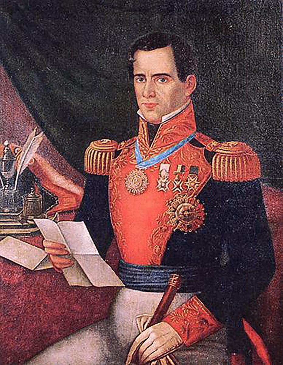Mexican General Antonio Lopez de Santa Anna.