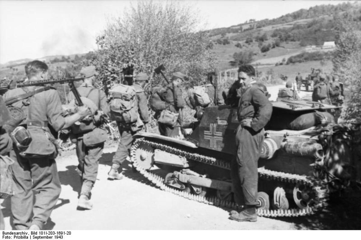 German soldiers begin the occupation of Albania.