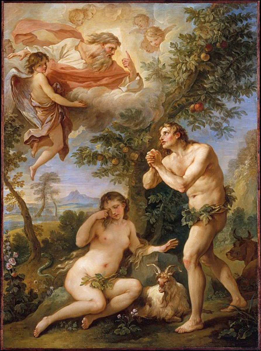 """The Rebuke of Adam and Eve"" by Charles-Joseph Natoire"