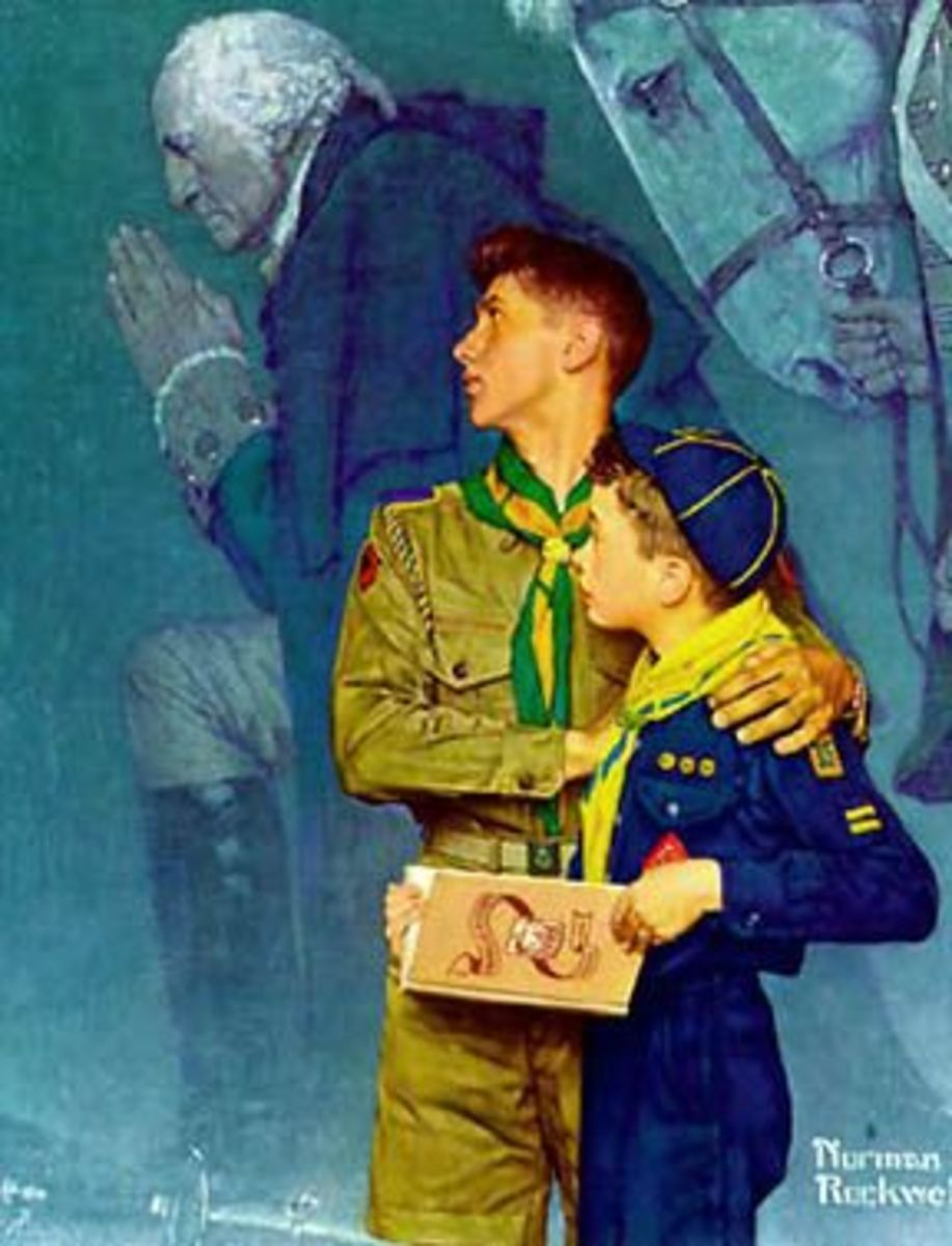 Boy Scouts of America illustration by Norman Rockwell