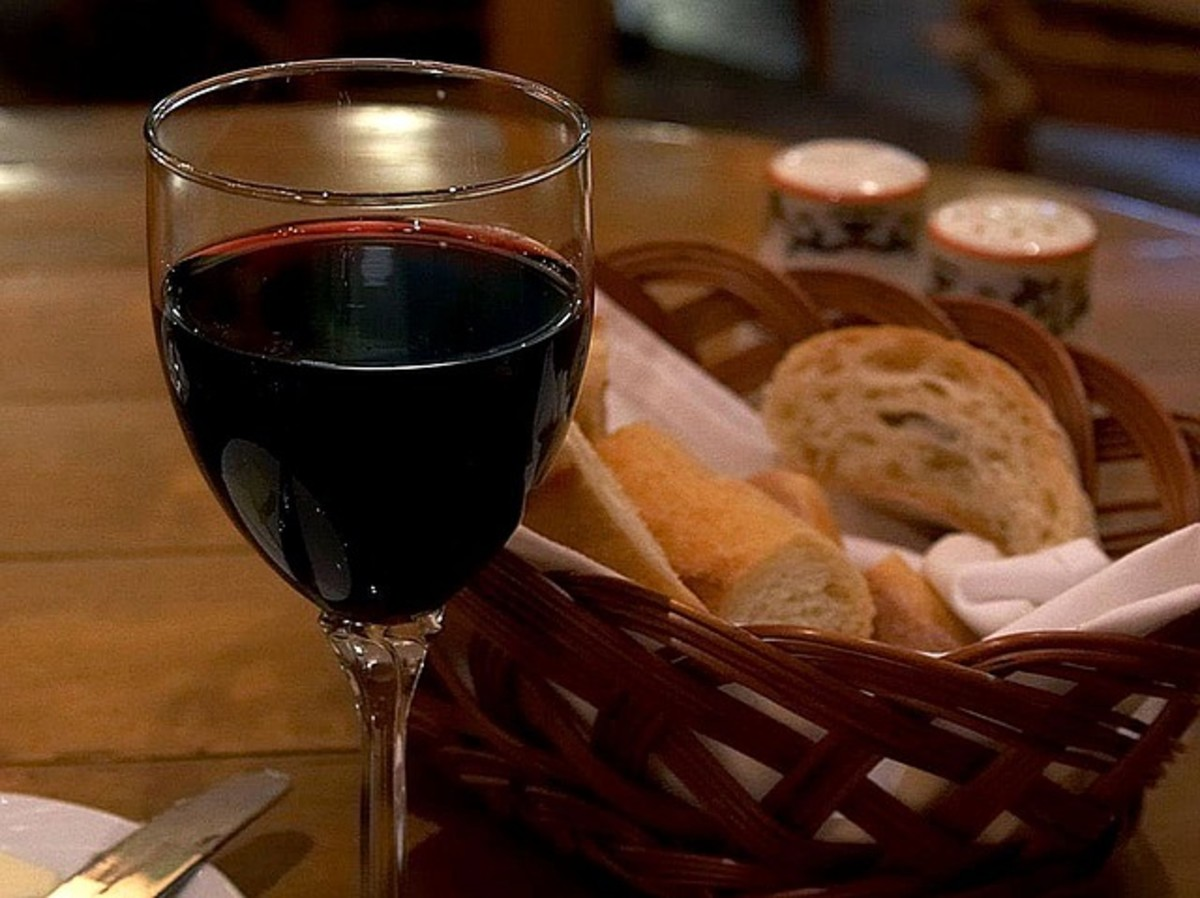Let's say bread for bread and wine for wine