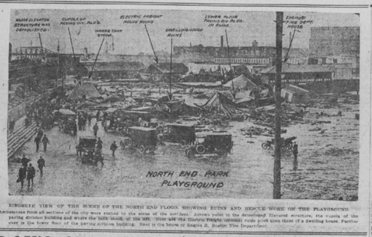 Newspaper photo of the Boston molasses flood