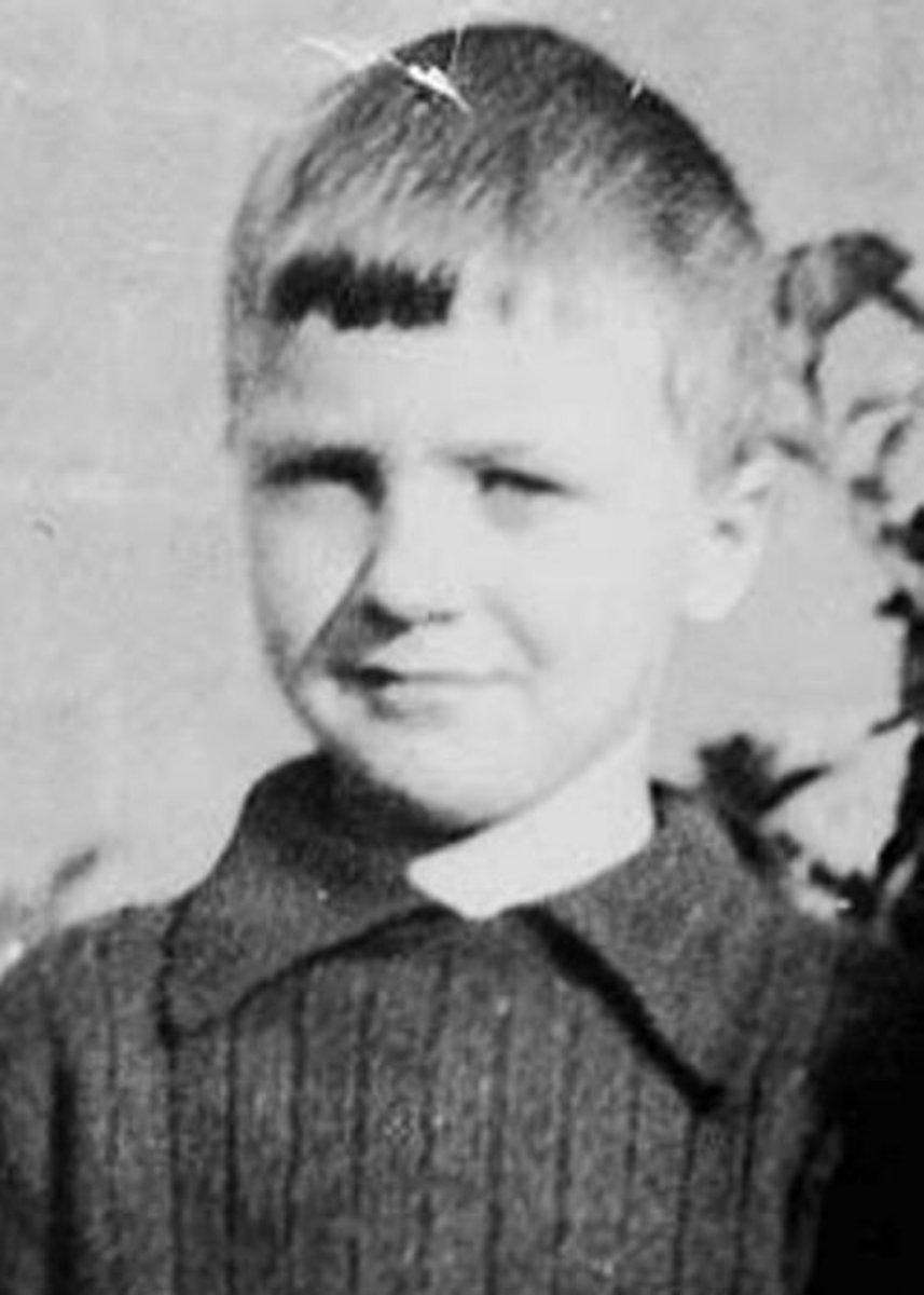 Roald Dahl as a young boy