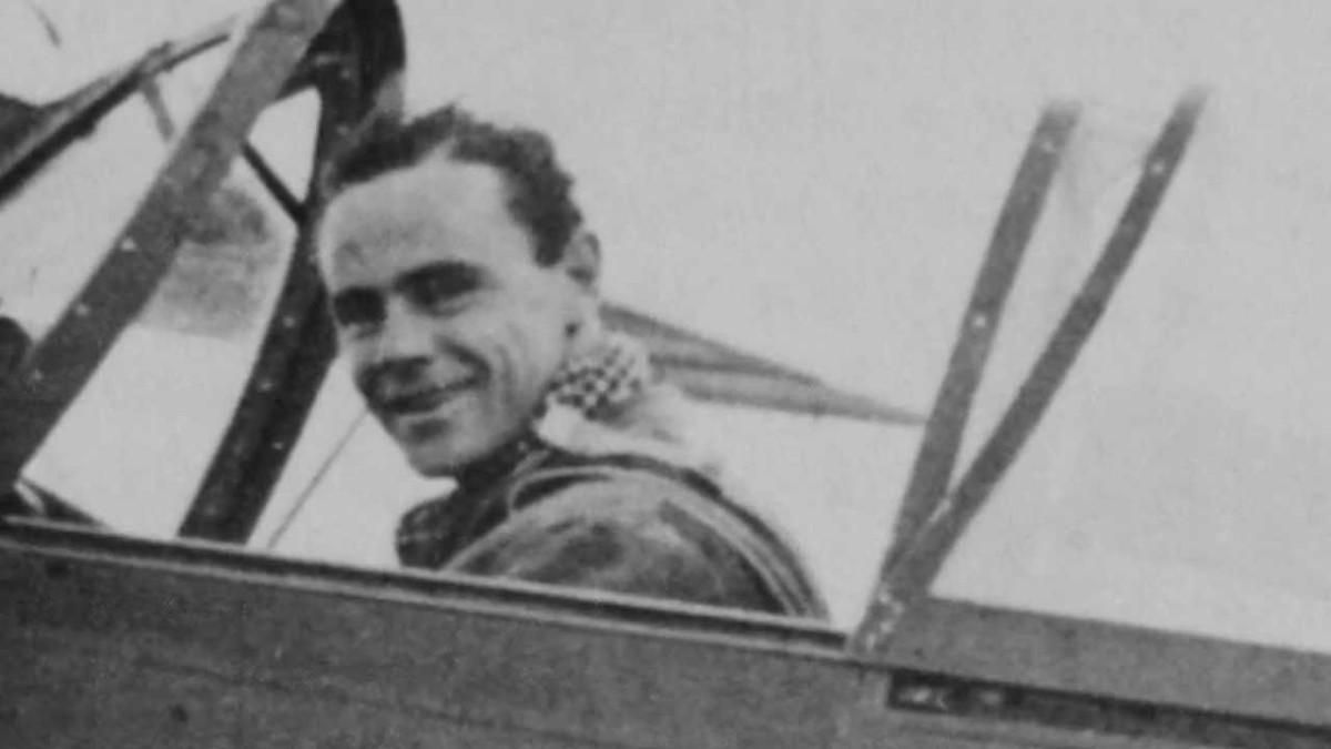 Roald Dahl as World War II pilot