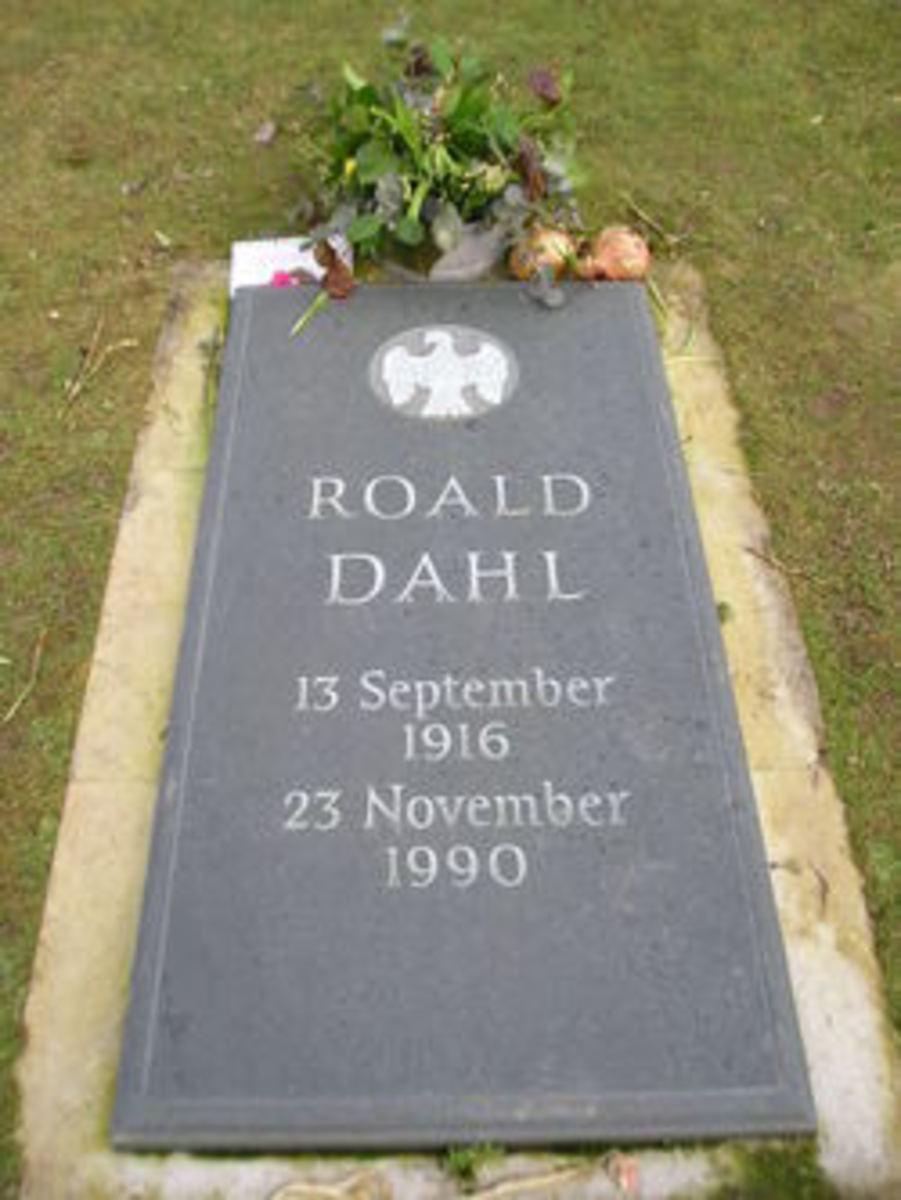 Roald Dahl's grave marker