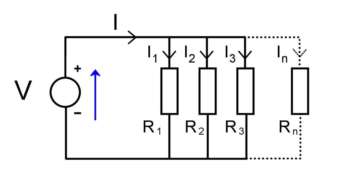 Multiple resistors in parallel.