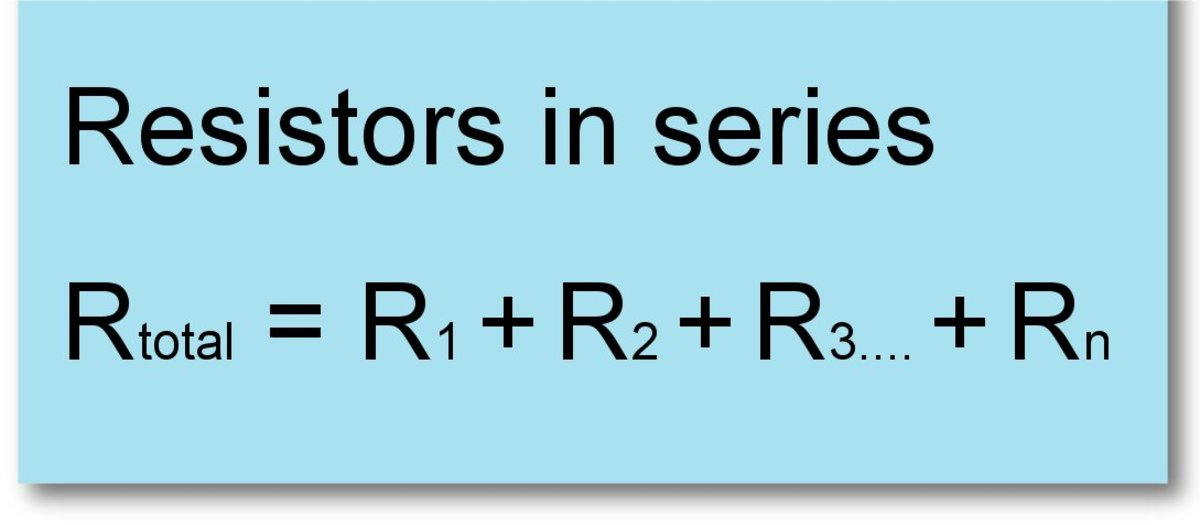 Formula for resistors connected in series.