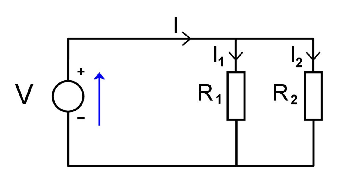 Two resistors connected in parallel.