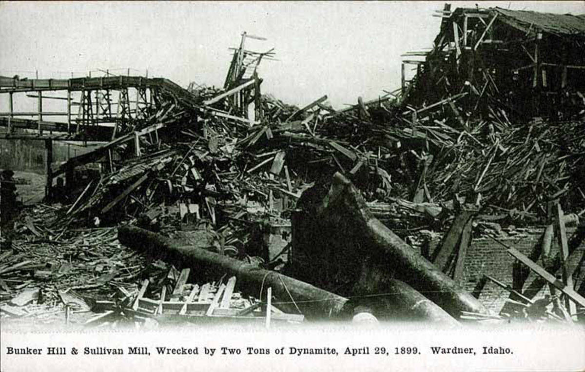The wreckage of the Bunker Hill and Sullivan mine complex.