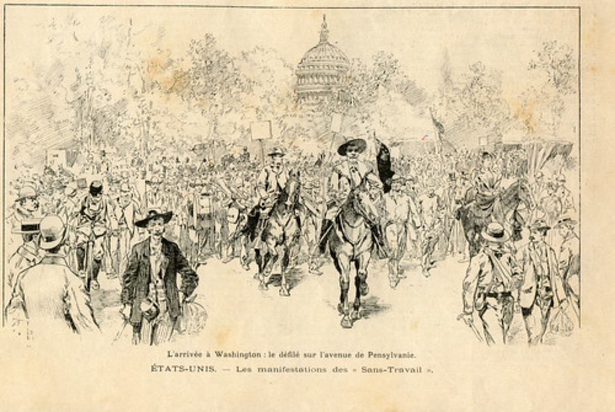 The marchers in Washington.