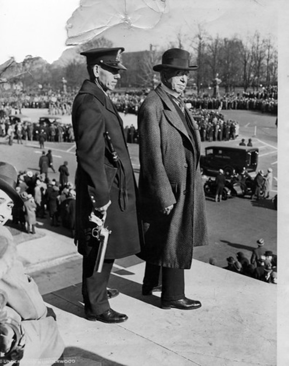 The more things change the more they stay the same. Jacob Moxey (right) watches hunger marchers in Washington in 1931.
