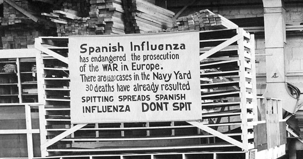 In 1918 public health awareness was limited.