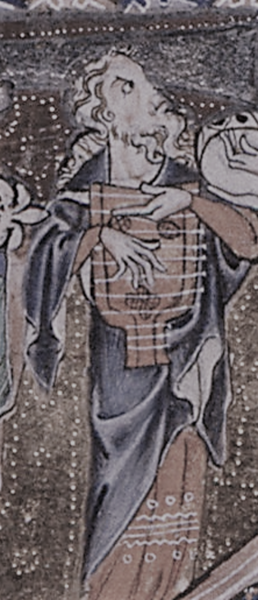 14th Century psaltery player