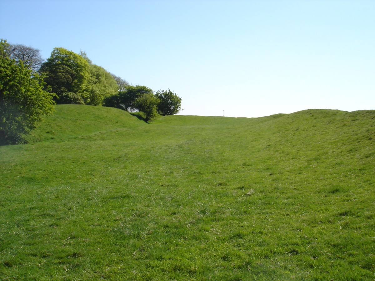 Banqueting area of the Hill of Tara