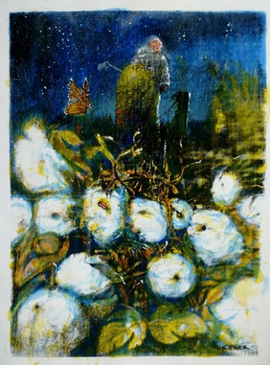 Starry Night, c. 2014, Acrylic on Paper by Charles Criner