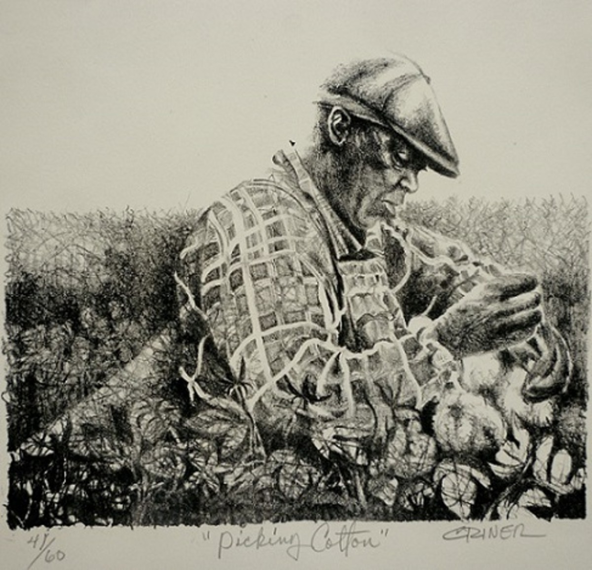 """""""Picking Cotton"""" by Charles Criner"""