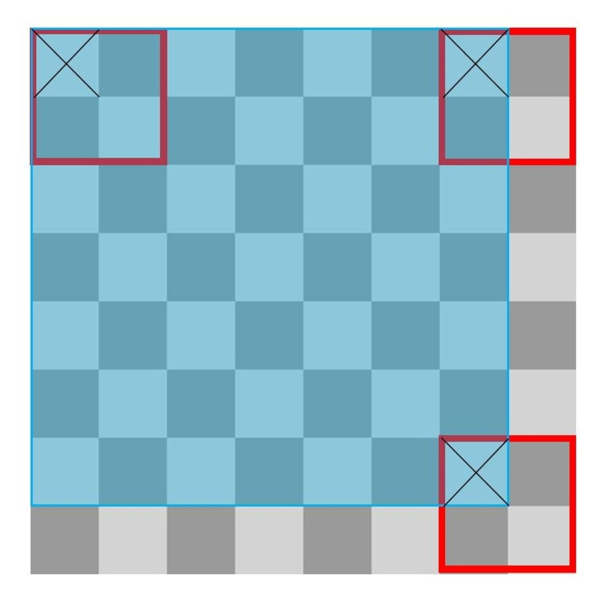 A Chessboard With 2x2 Squares