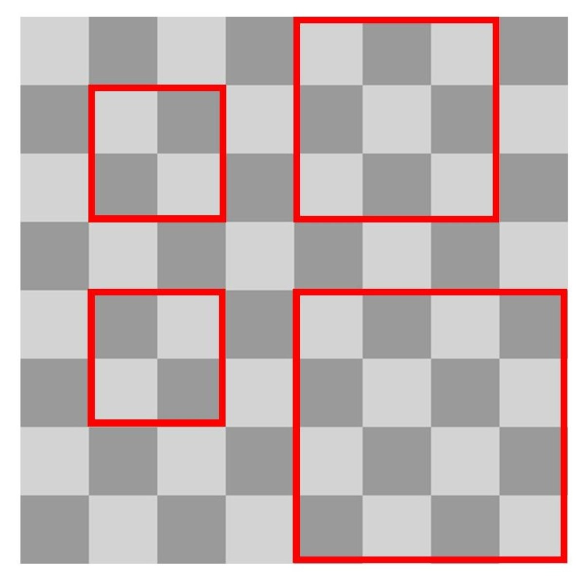 A Chessboard With Assorted Squares