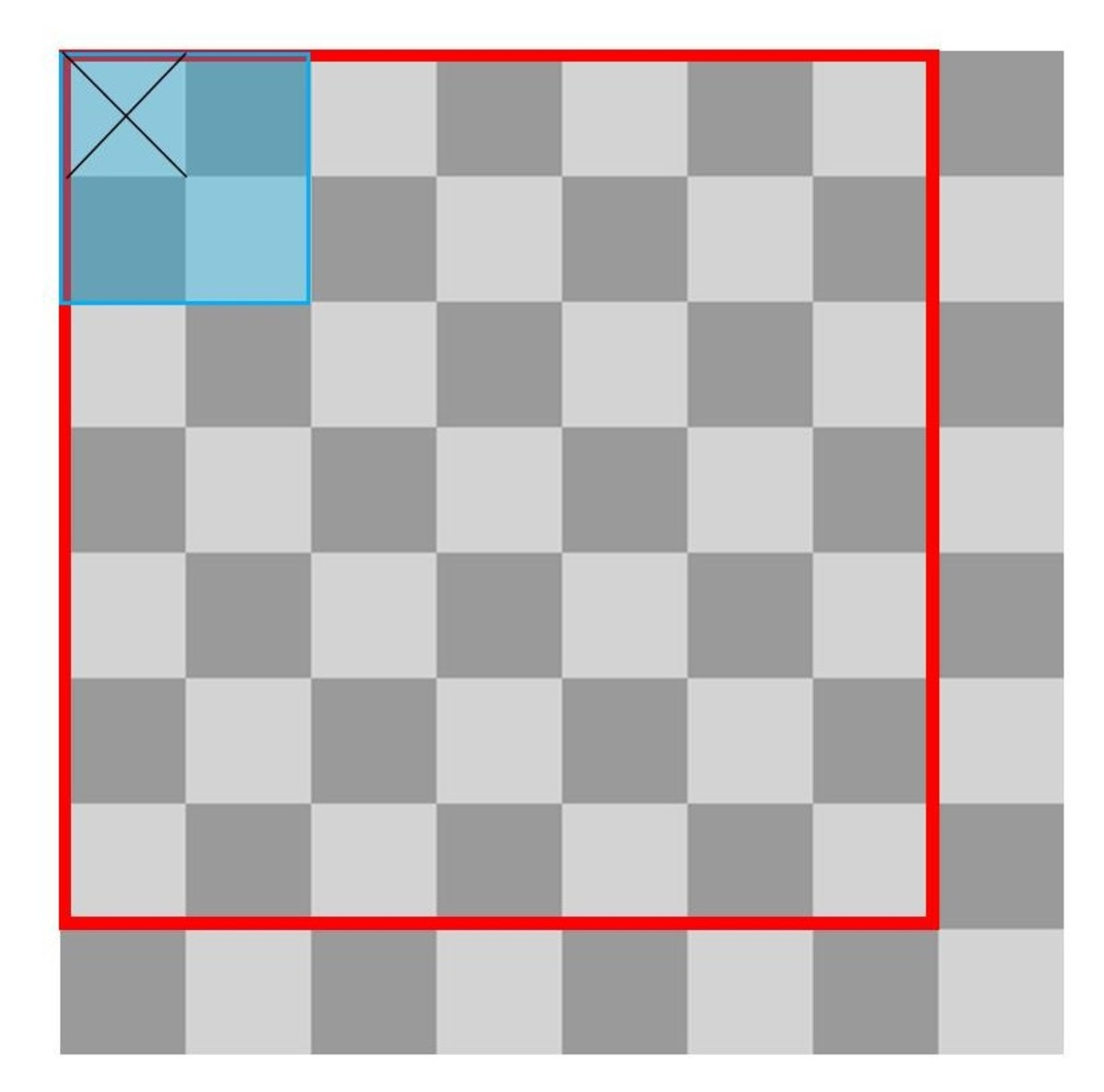 A Chessboard With a 7x7 Square