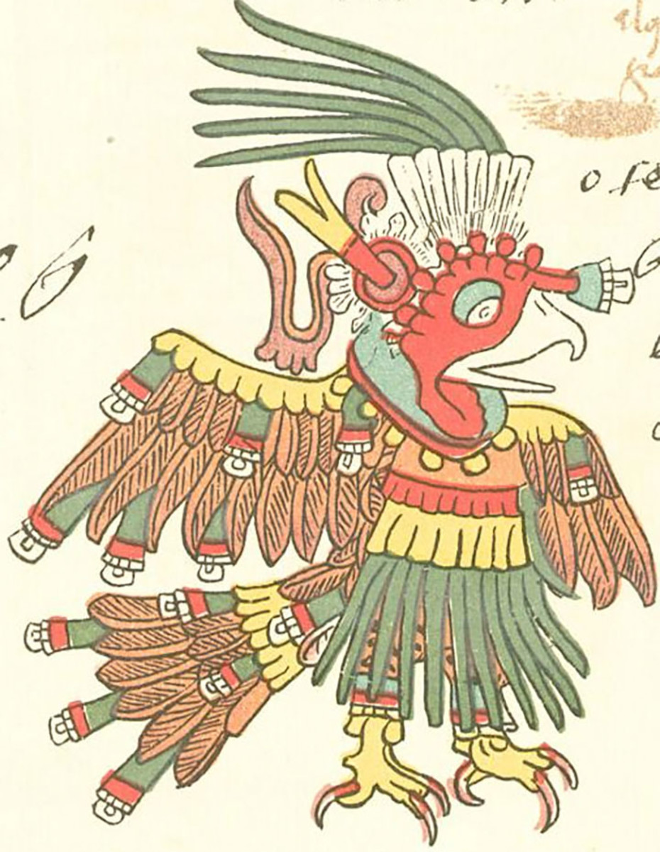 Chalchiuhtotolin, a feared bringer of diseases in the Aztec pantheon.