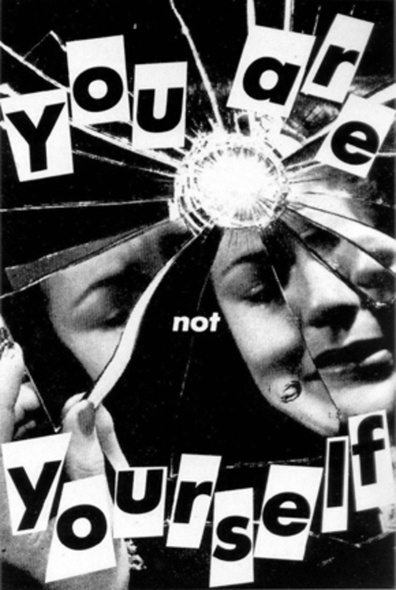 """""""You Are Not Yourself"""" by Barbara Kruger"""