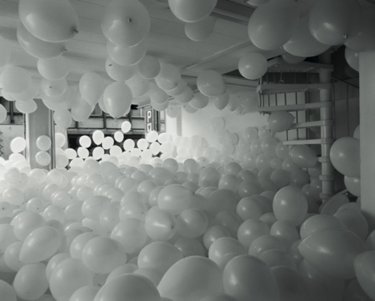 """""""Work No. 200: Half the Air in a Given Space"""" by Martin Creed"""