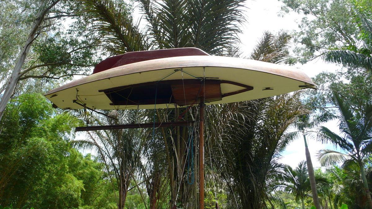 """The Mahogany Pavilion"" by Simon Starling"