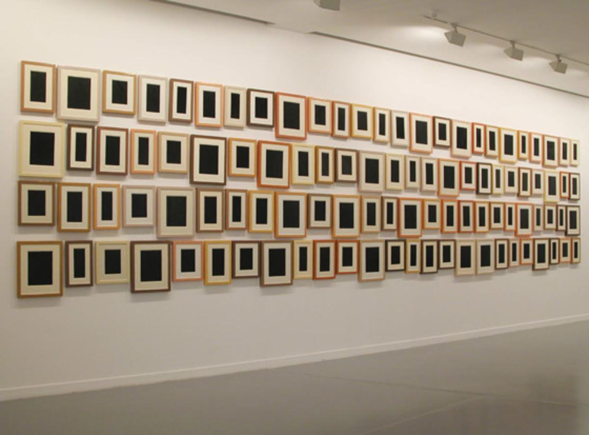 """Collection of 100 Plastic Surrogates"" by Allan McCollum"